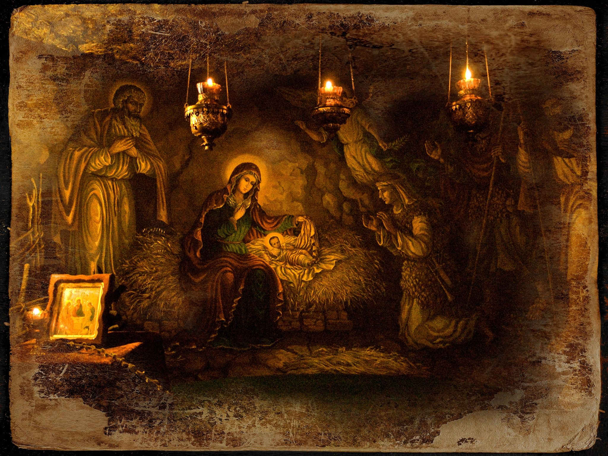 Днем, церковные открытки рождества