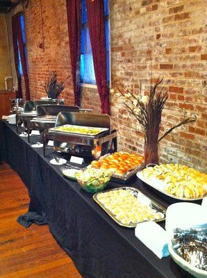 wedding buffet w/ lots of diff pastas lol