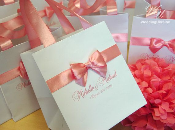 100 Personalized Wedding Welcome Bags With Satin By Weddingukraine