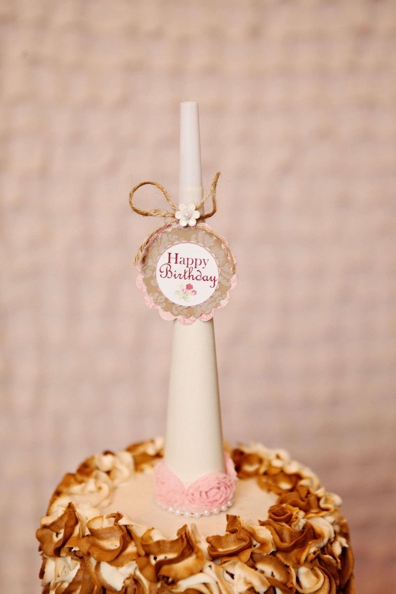 Southern Charm Noisemaker Horn Favor Vintage Birthday Rustic Girl Decorations
