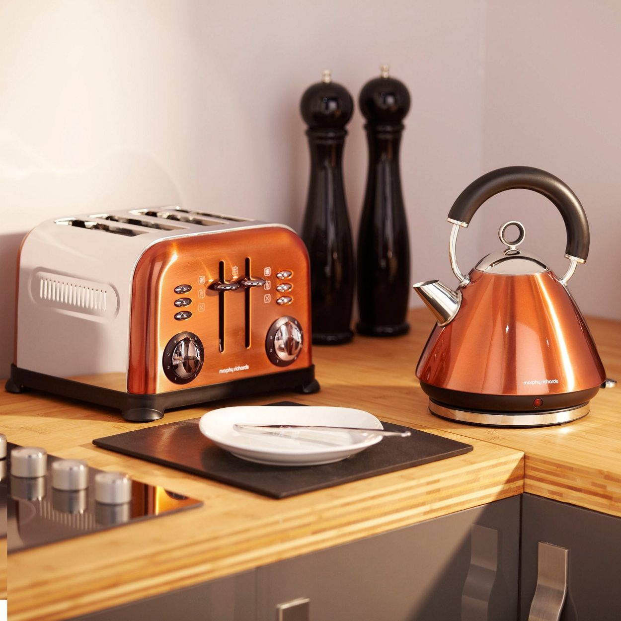 Copper accents 4 slice toaster 44744 kitchen for Kitchen set kettle toaster