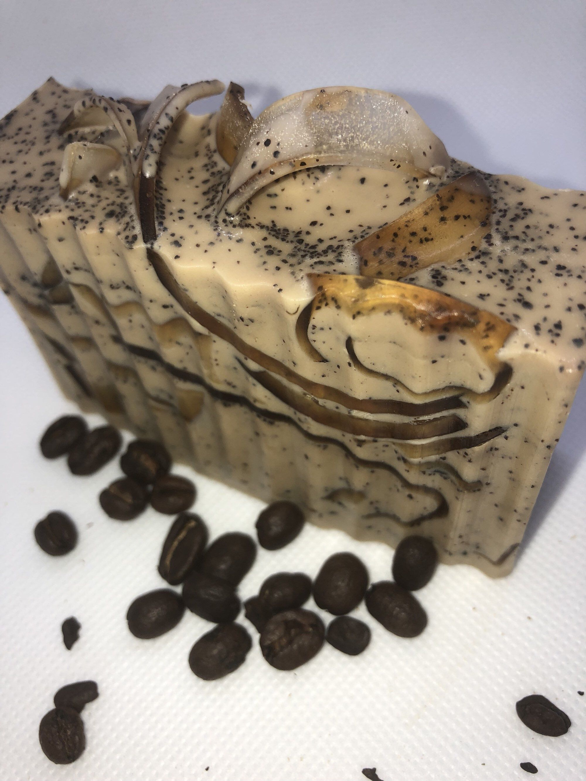 Mens woodsy coffee Homemade acne soapGoat Milk Soap with