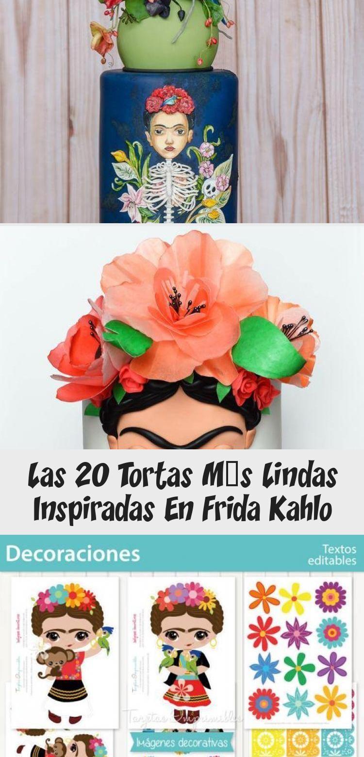 Photo of Las 20 tortas más lindas inspiradas en Frida Kahlo | Tarjetas Imprimibles #Pina…