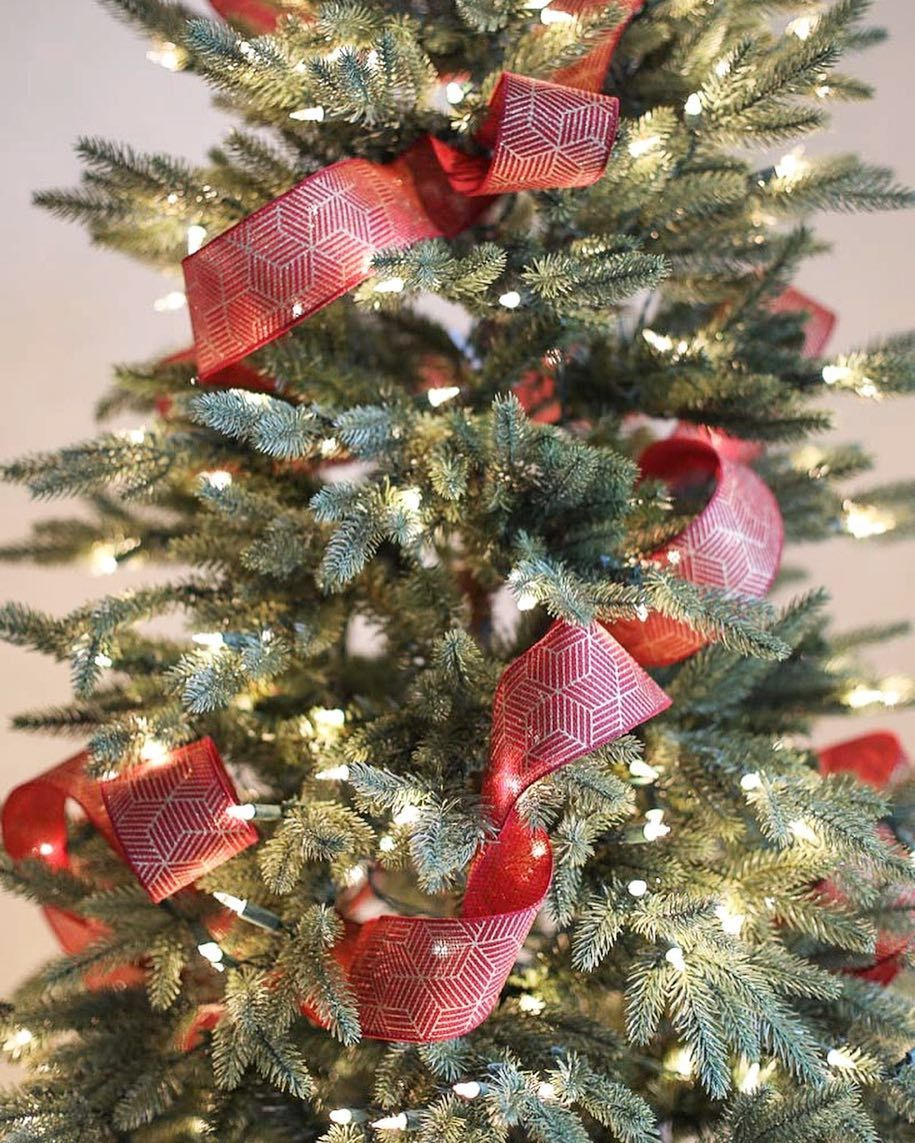 how to put ribbon on a christmas tree real simple