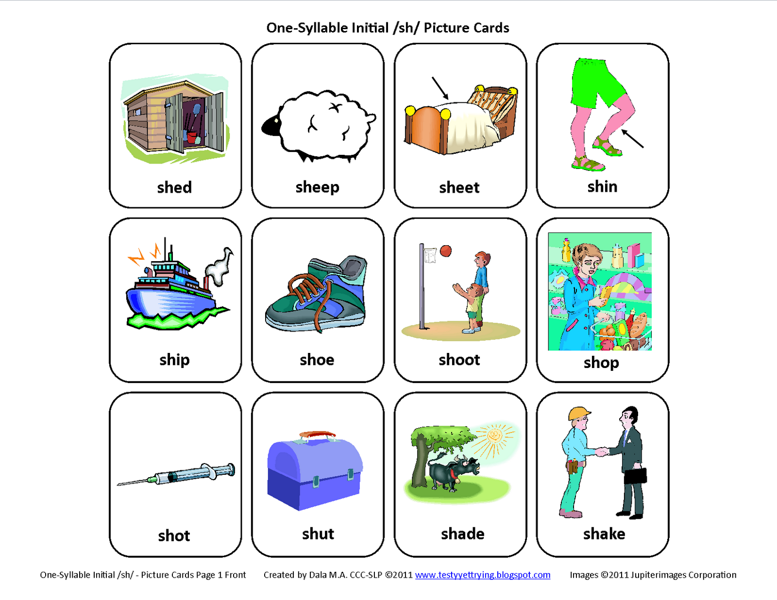 Uncategorized Articulation Worksheets testy yet trying initial sh free speech therapy articulation picture cards