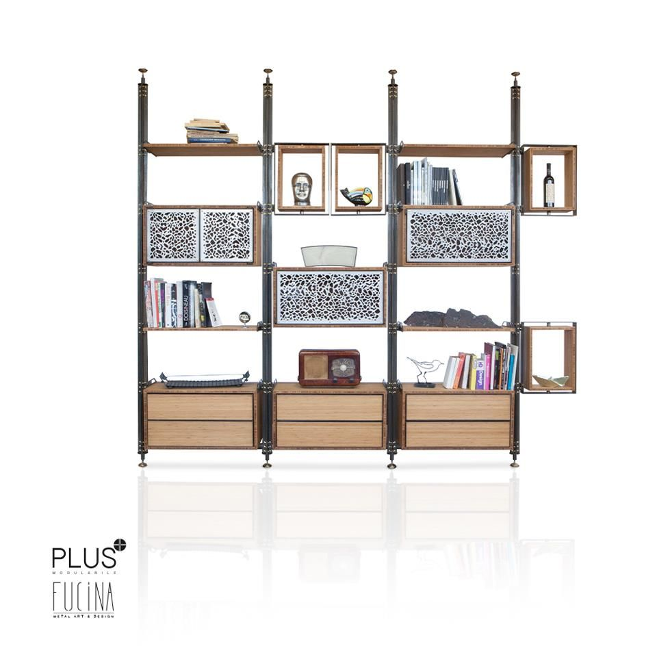 Versatile And Modular Bookcase Composed Of Cabinets