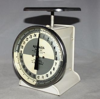 1960s hanson model 1371 utility scale kitchen scale antique and