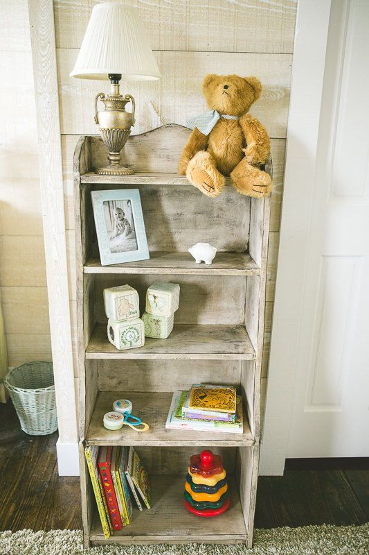 Hopewell Nursery Bookcase 48 Tall And 20 1 2 Wide Distressed White On Etsy 195 00