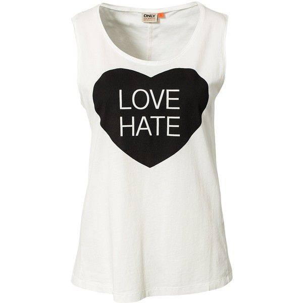 Only Lets Maybe/Love Tee (9.490 CLP) ❤ liked on Polyvore