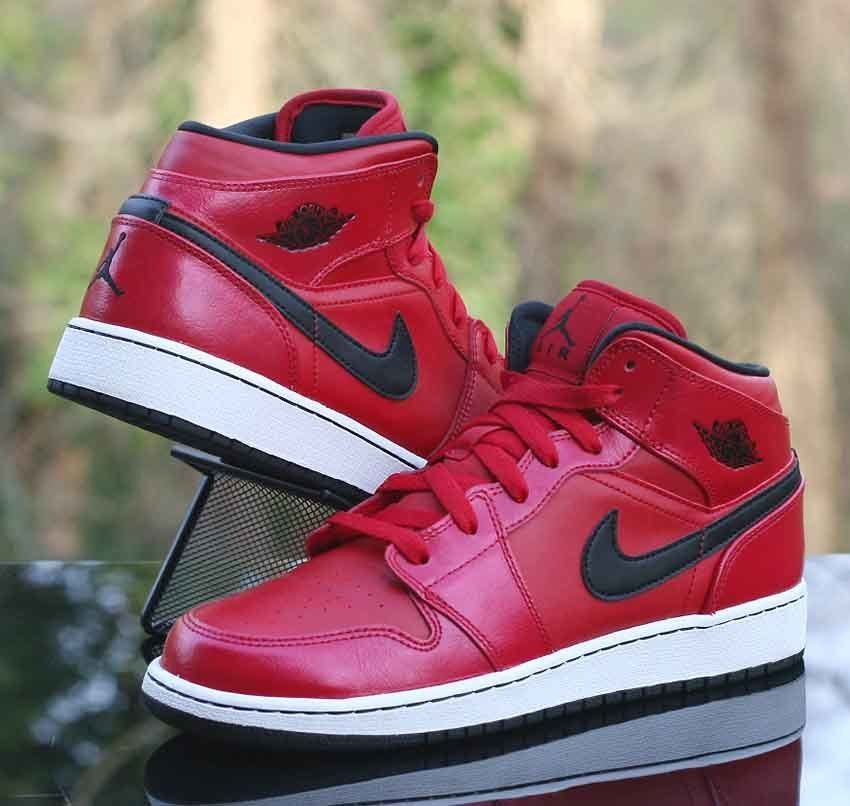 new concept c67bf d8383 Air Jordan 1 Mid Gym Red White Black 554725-602 Kids Size 6.5Y  Jordan   BasketballShoes