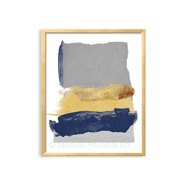 Popular color bo for living room grey gold & navy Navy Blue and Grey Modern Art this listing is PRINTABLE FILE of an abstract position in navy blue Modern - Inspirational navy bedroom ideas Style