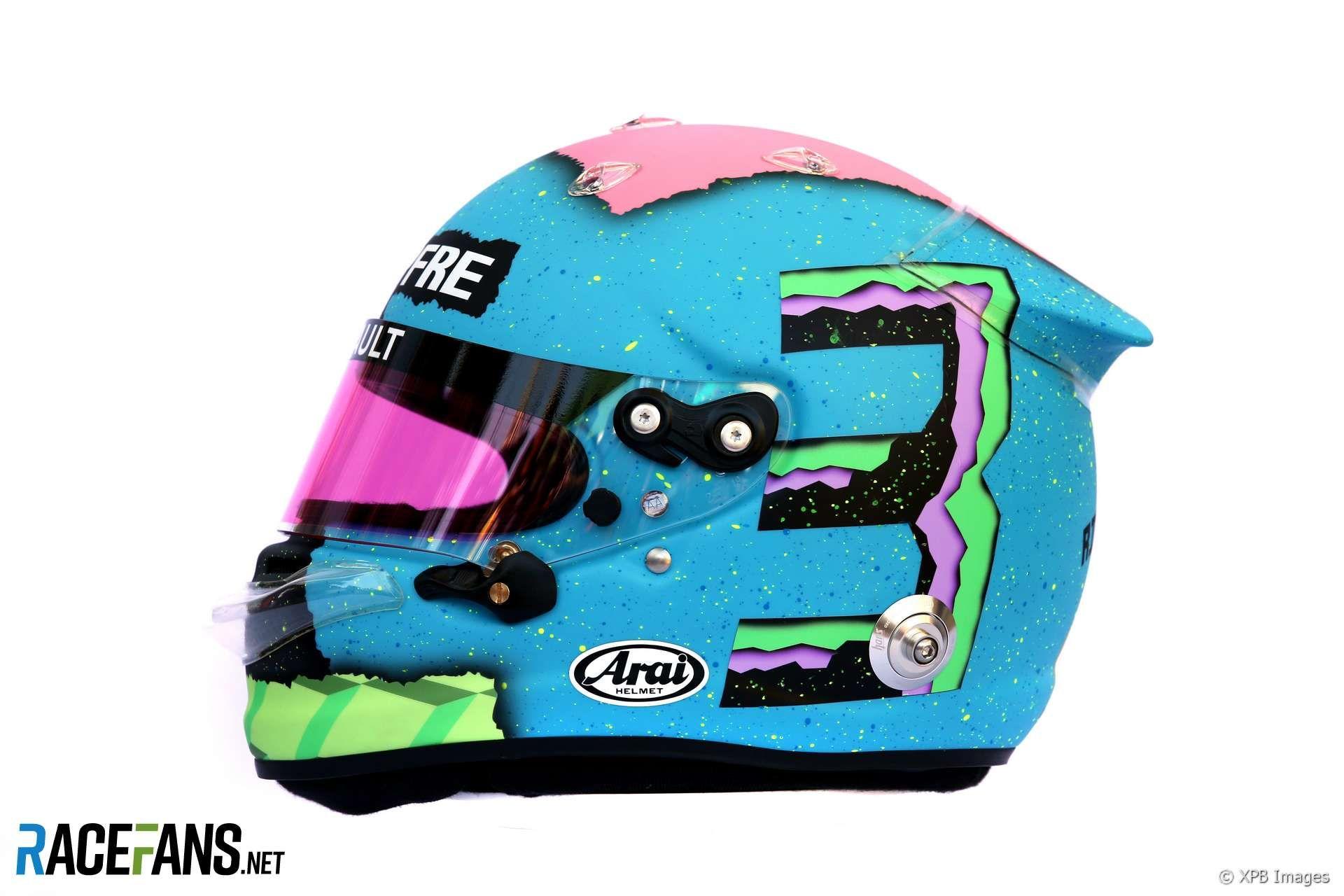 Daniel Ricciardo Formula 1 2019 Helmet Print