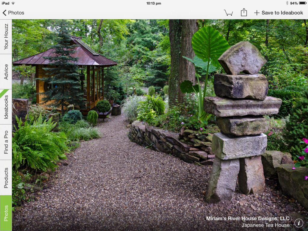 House garden landscape  Like the stone sculpture  Garden sanctuary  Pinterest  Stone
