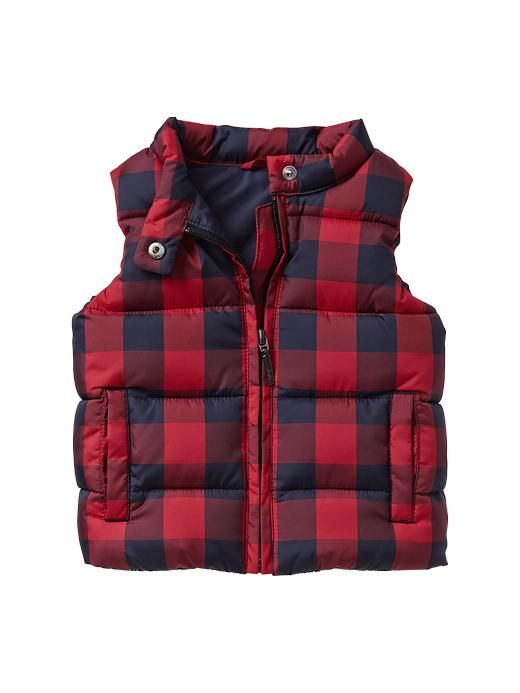 8cb7182aab0d Checkered puffer vest Product Image