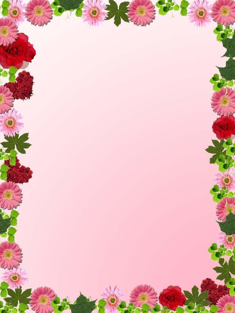 Spring Flower Border Clip Art floral frame bg photo