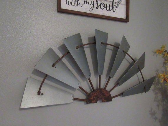 30 Galvanize Half Windmill Wall Decor Custom Metal Windmill Wall