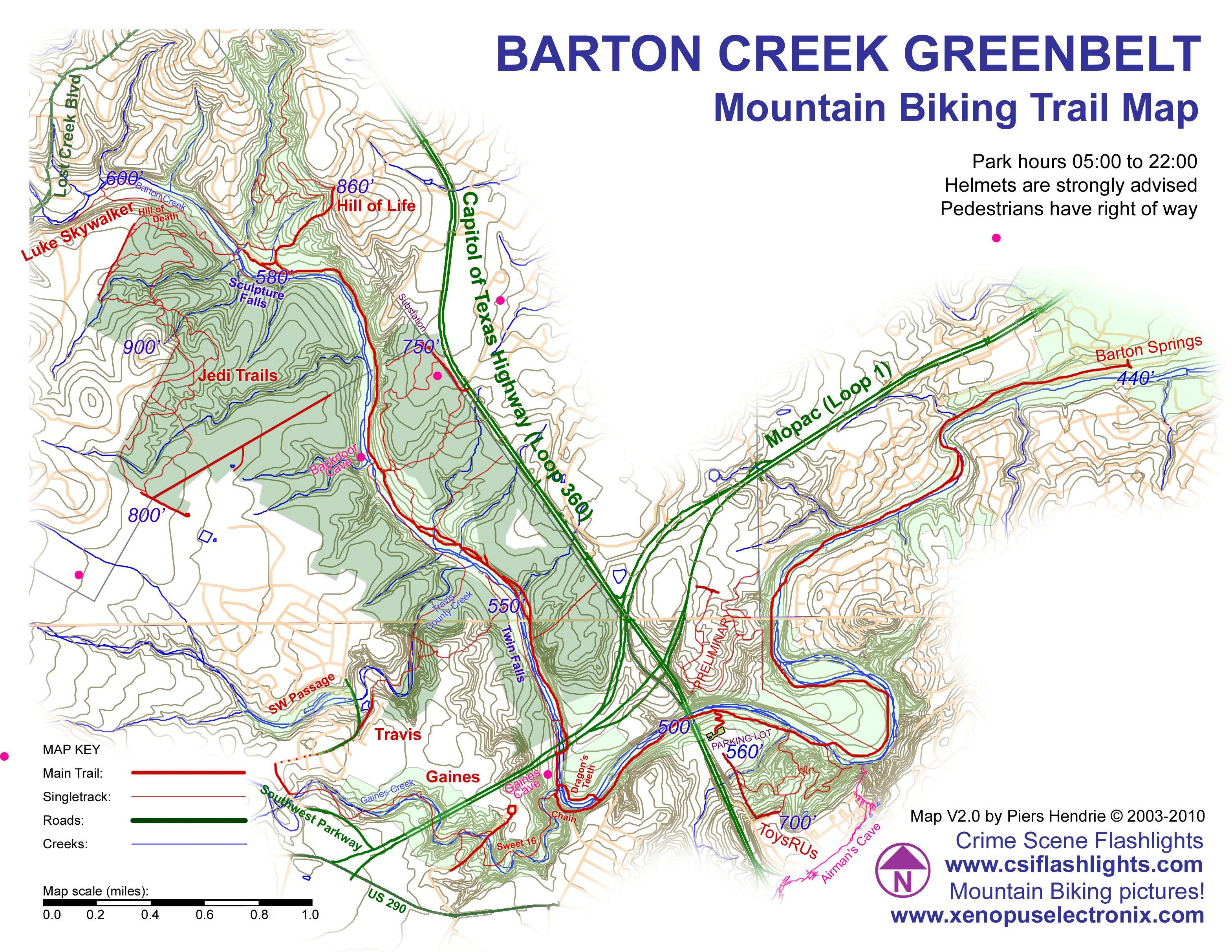 Barton Creek Greenbelt Mountain Biking Trail Barton Creek