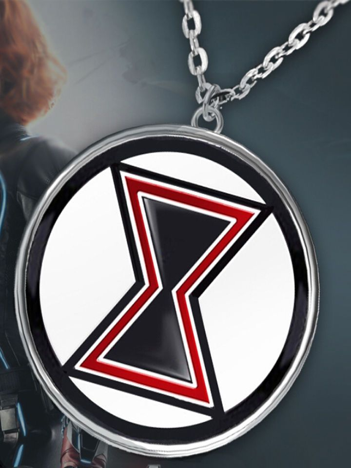 Marvel Avengers Black Widow Symbol Necklace Brand New High Quality