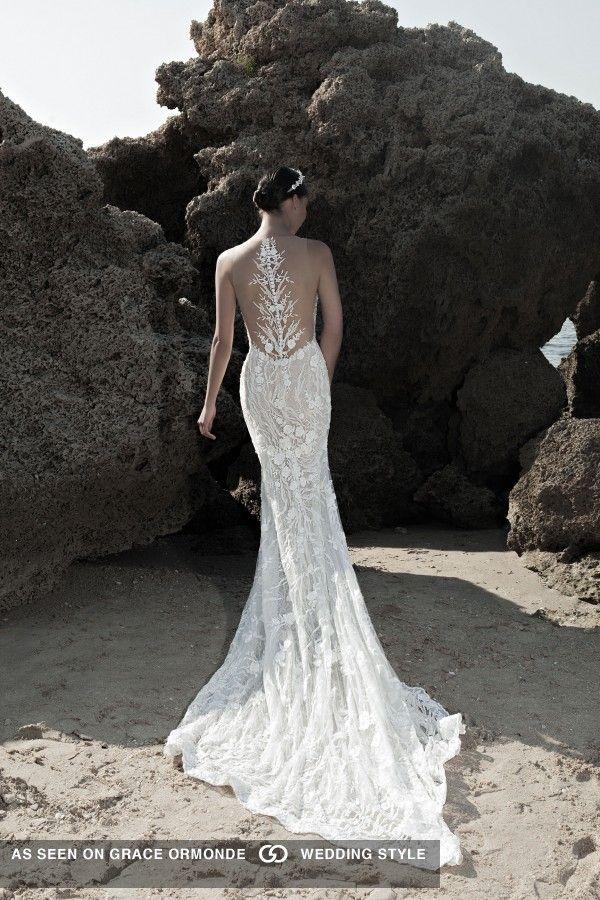 Lee Petra Grebenau Wedding Dress With Detailed Back