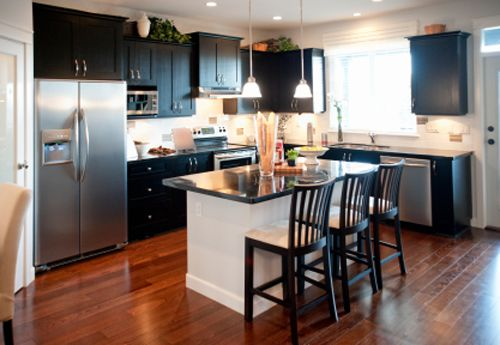Different Style Kitchen With L Shape And Island