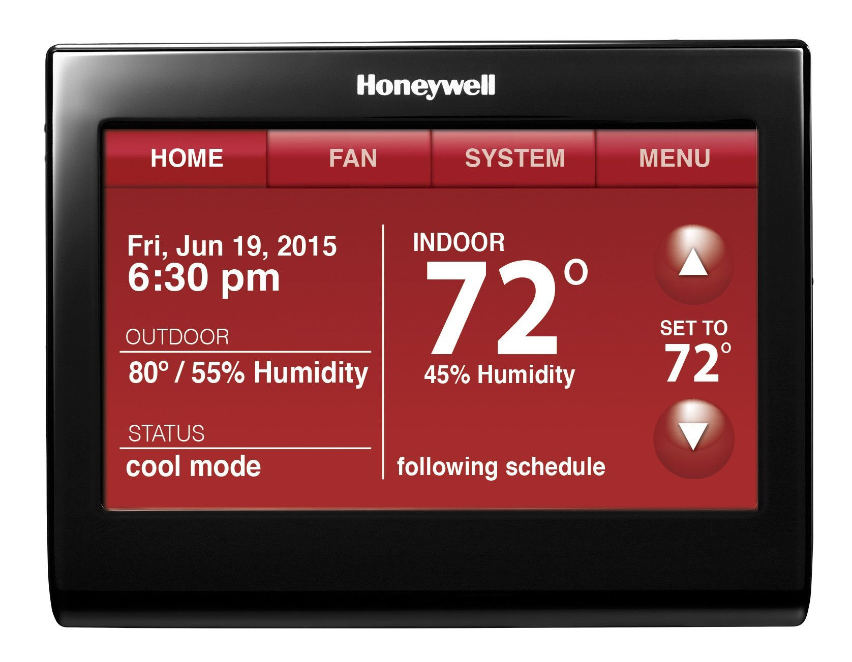 Wi Fi Touchscreen Thermostat With Voice Control 9000 Series Honeywell Smart Thermostats Home Thermostat
