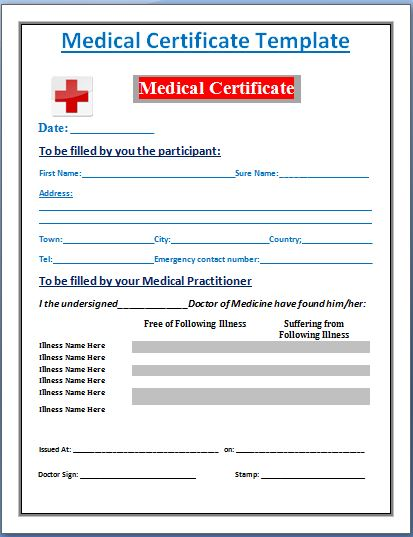 Free Fake Medical Certificate Template 10 Best Templates
