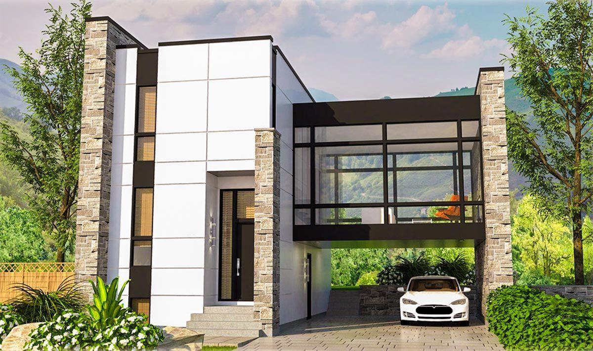 Striking Modern House Plan 90300PD