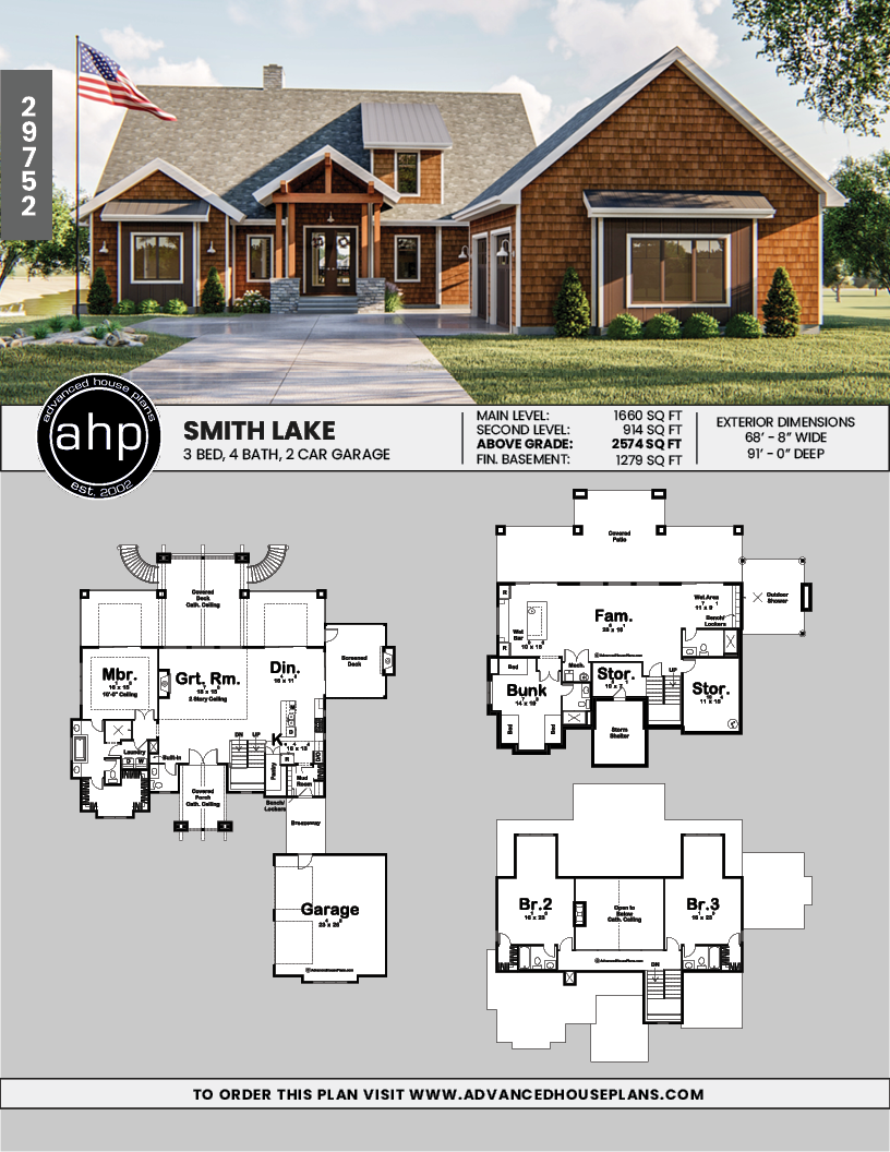 1 5 Story Craftsman Style House Plan Smith Lake Craftsman Style House Plans Lake House Plans Craftsman House Plans