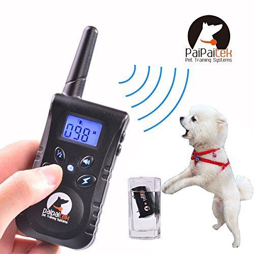 Littlestream Cat Dog Training Collar 550 Yards Waterproof Rechargeable Long Standby Remote And Rainproof