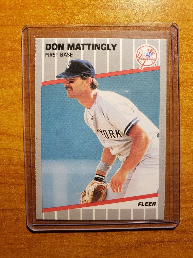 Don Mattingly 1989 Fleer Base Card 258 Ny Yankees Bronx Bombers Star 1b Vintage Newyorkyankees In 2020 Don Mattingly Sports Cards Bronx Bombers