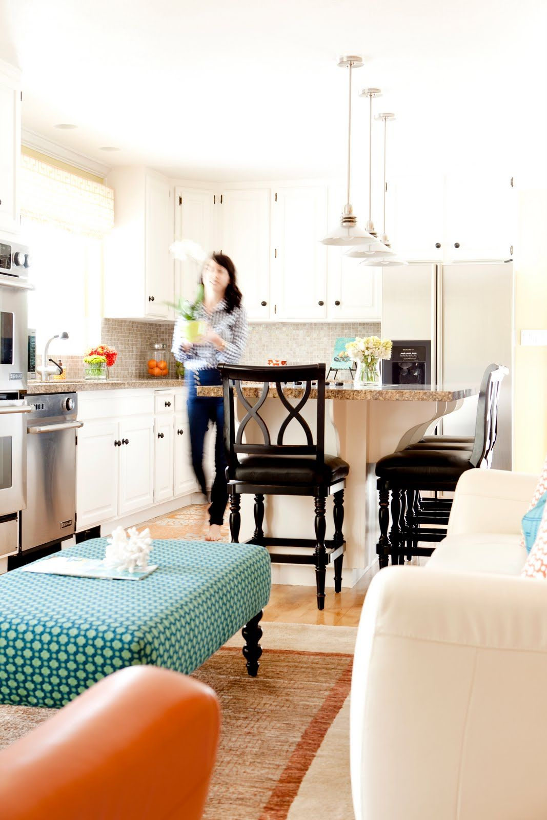 Kitchen Sitting Rooms Designs: Love This Room - More White Kitchen Cabinets. :)