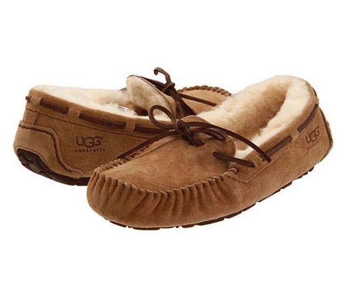 74f4832f46f Ugg Women Dakota 5612 Moccasin Slipper In Chestnut Sz 5-12 W/ Box ...