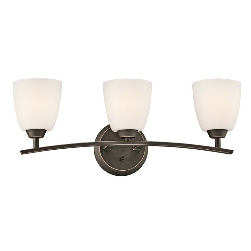 interesting bathroom light fixtures%0A Kichler      OZ Granby  Light Bathroom Vanity Light Bar       W in  Olde