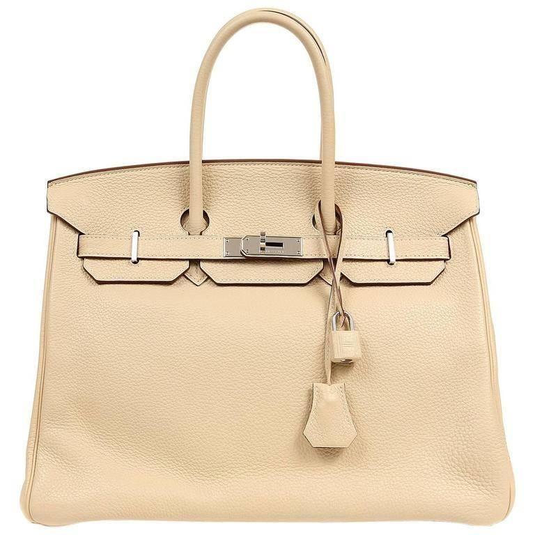 ecb90cfc18c Hermès - Birkin 35cm Parchemin Togo Palladium Hardware Birkin Bag ( 18