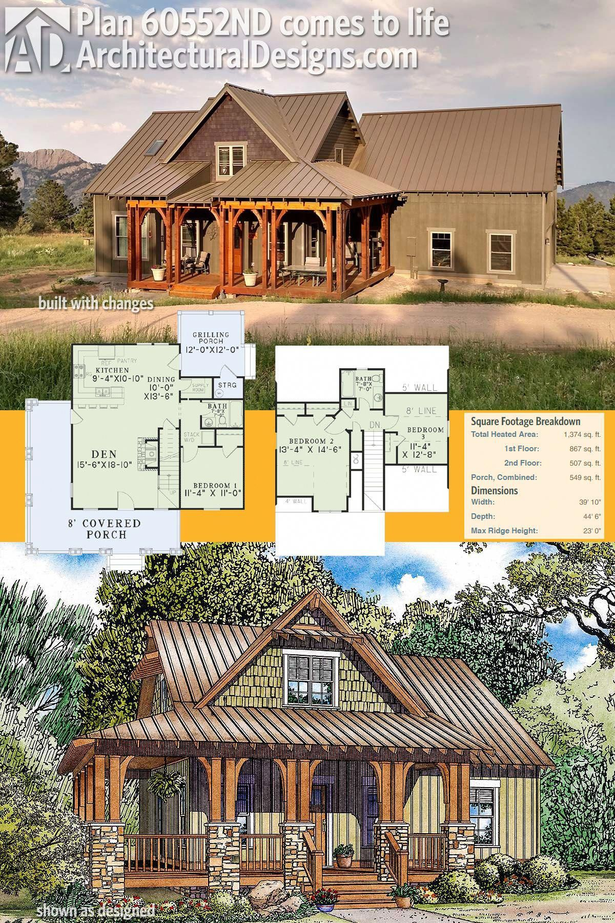 Architectural Designs Rustic House Plan 60552ND comes to ...