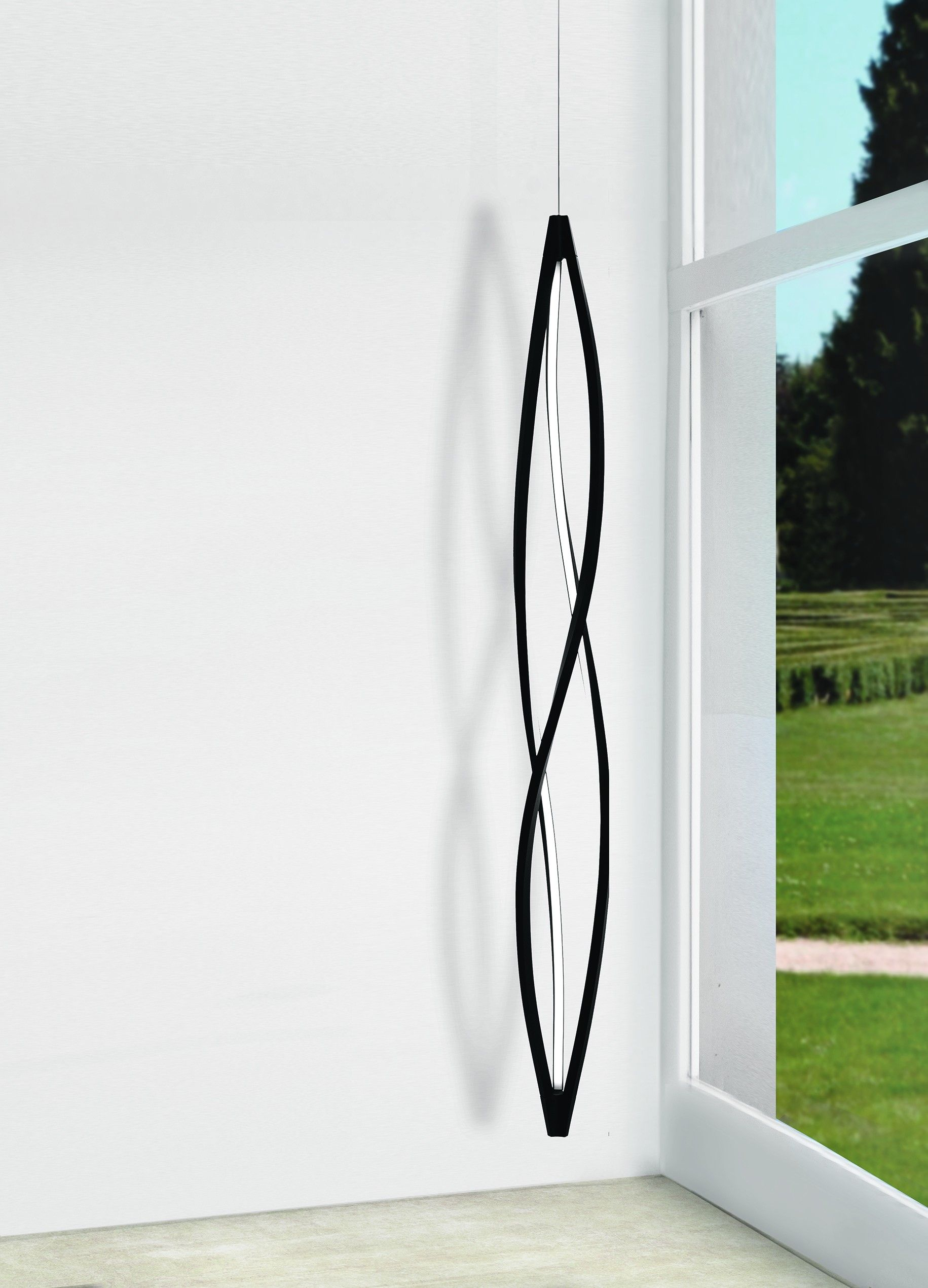 In The Wind Pendant Vertical Pendant Lamp For A Warm And Widespread Led Lighting The Body Is Ma