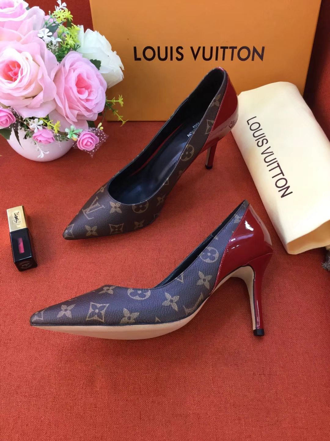 Replica Womens Shoes Louis Vuitton Monogram Pump 90mm Lv Knockoff Shoes 35 To 41 A38pp320 Aa4 Louis Vuitton Shoes Heels Louis Vuitton Shoes Louis Vuitton Boots