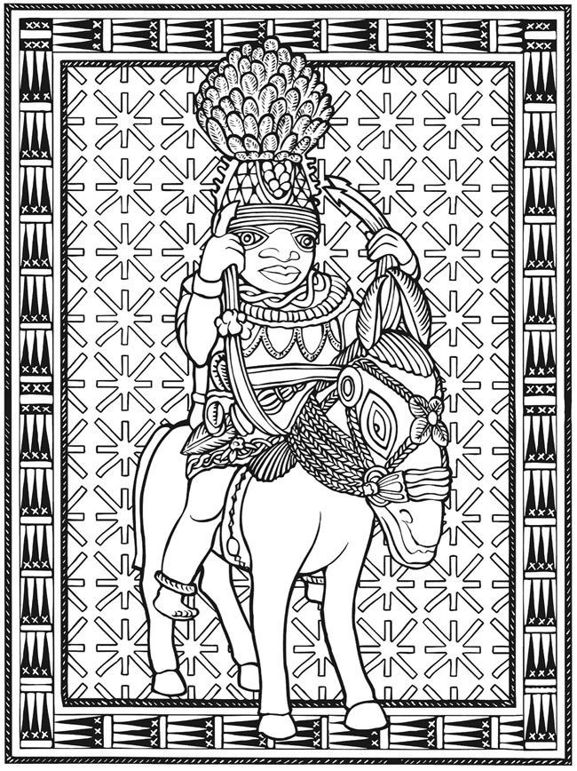 Welcome To Dover Publications Creative Haven African Designs Coloring Book