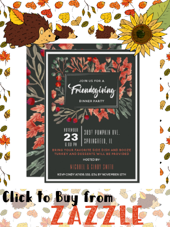 Watercolor Autumn Foliage Friendsgiving Invitation | Zazzle.com #autumnfoliage