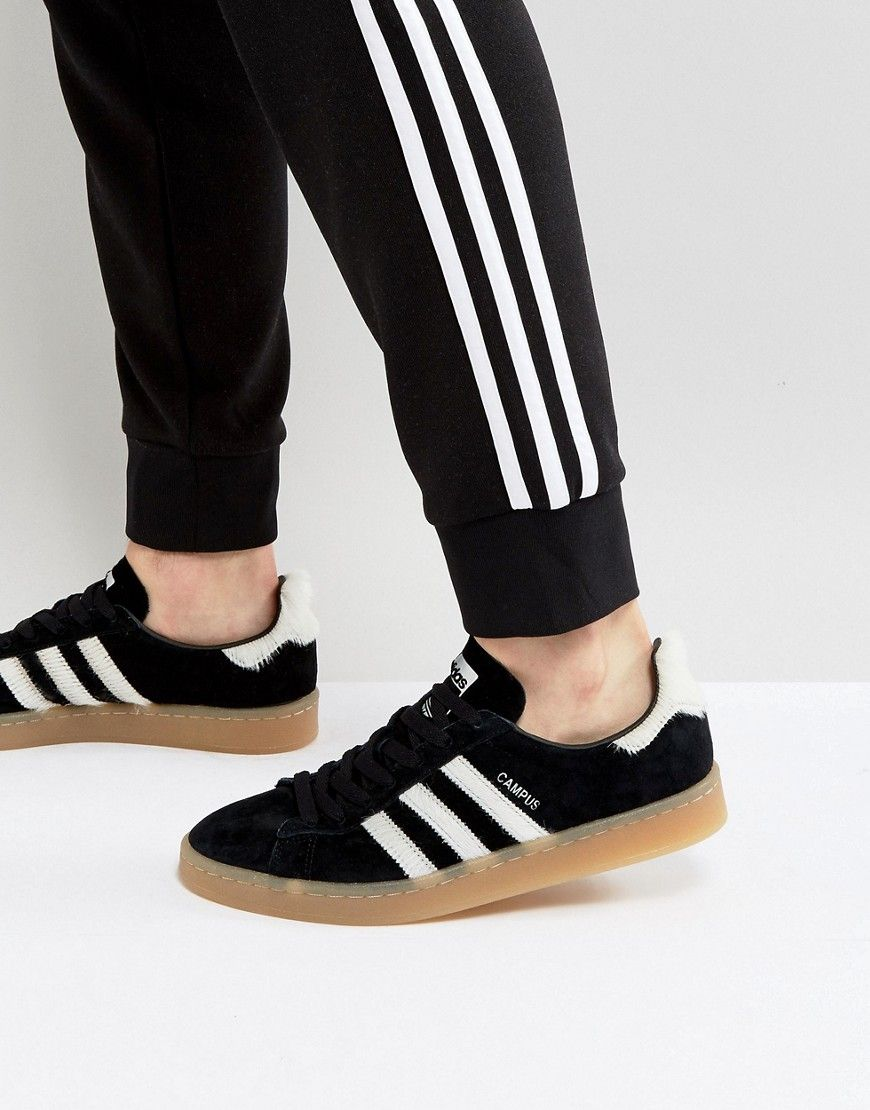 low priced c4d72 d6257 ADIDAS ORIGINALS CAMPUS SNEAKERS IN BLACK BZ0071 - BLACK.  adidasoriginals   shoes