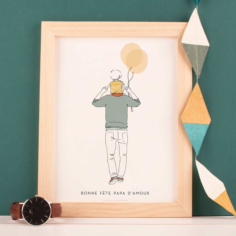Affichette Lovely Dad Atelier Rosemood Papa D Amour Bonne