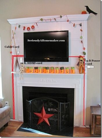 Diy Hide Your Tv Cords With Channels Made To Look Like Woodwork