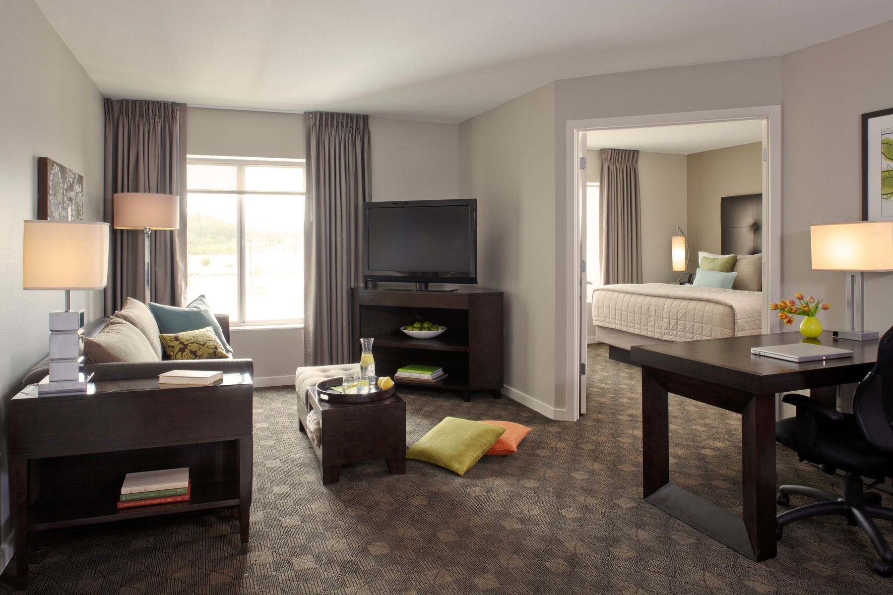 Our one bedroom suites at HYATT house make for a spacious