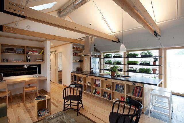 casa sustenable / Middlebury College  interesante espacio de trabajo