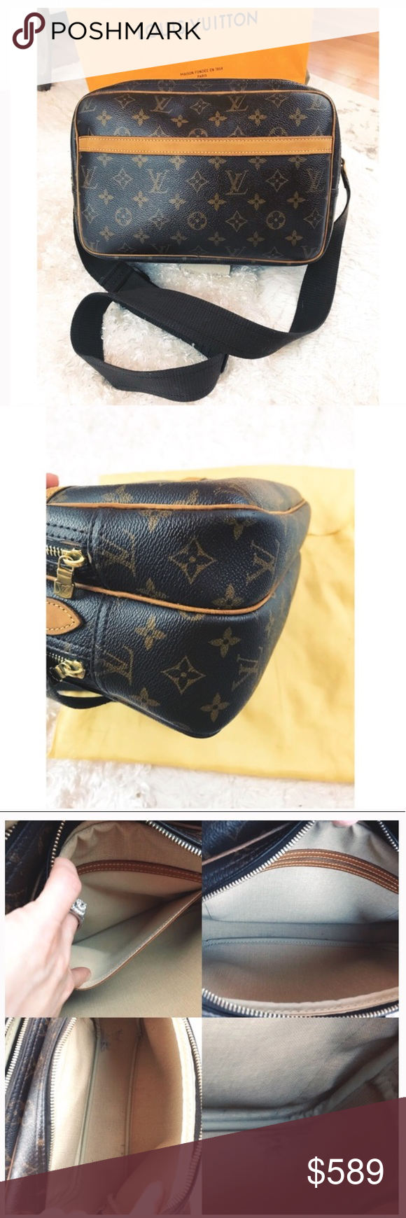 d00f7356f2df Spotted while shopping on Poshmark  LV Reporter Monogram!  poshmark  fashion   shopping  style  Louis Vuitton  Handbags