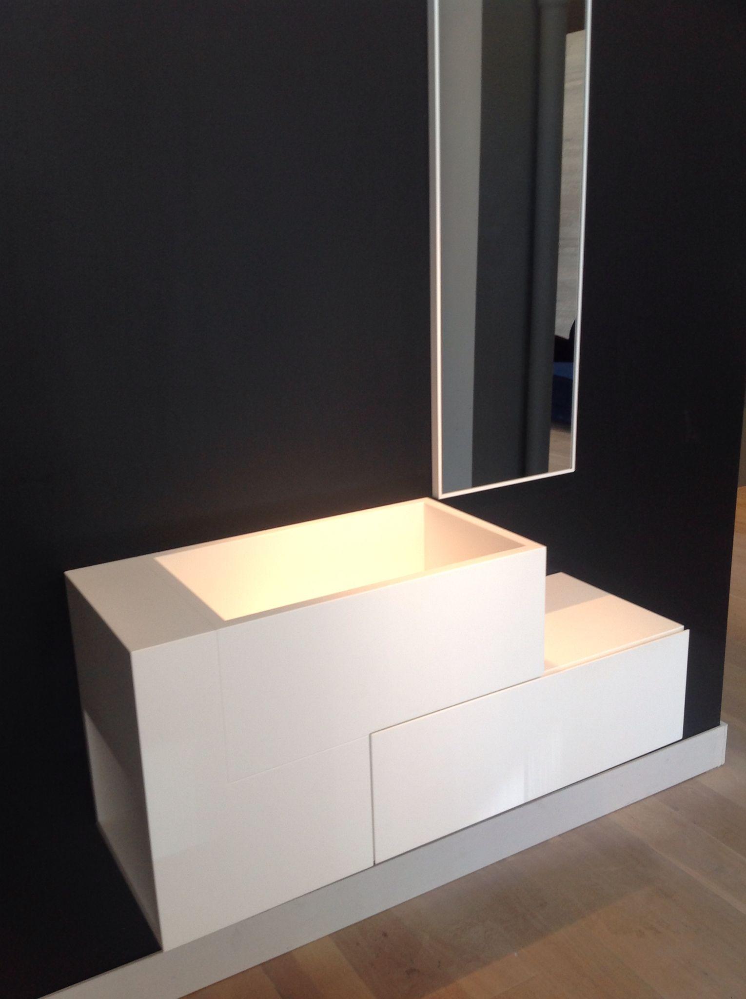 REXA Design badkamer wandmeubel ARGO van corian 108 X 36 48 cm ...
