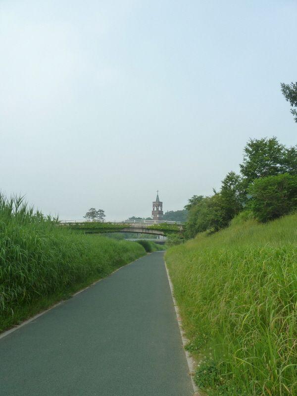 the way to the Gwacheon Catholic Church, Korea