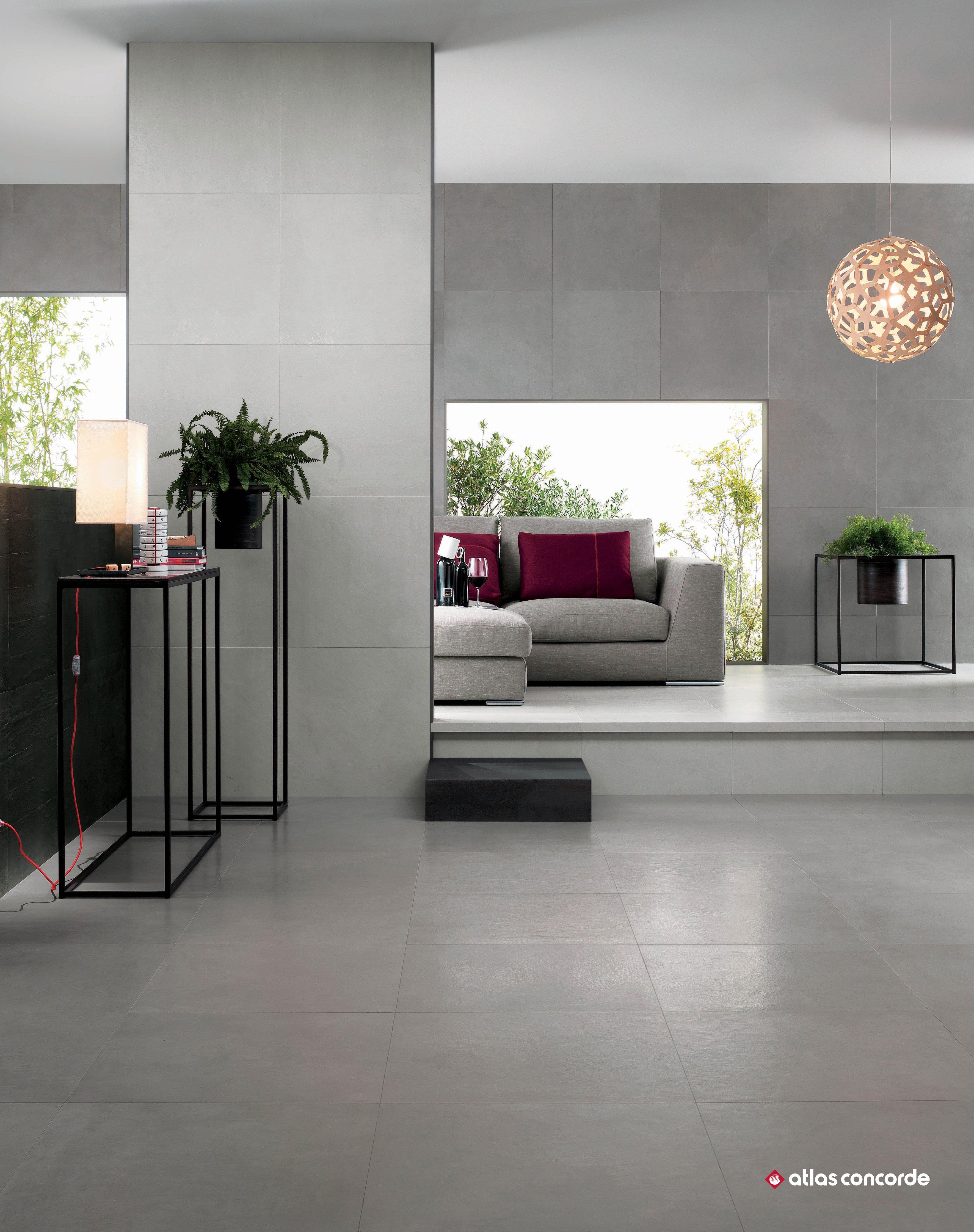 Concrete Look Porcelain Tiles Atlas Concorde Floors Contemporary Tile House Tiles Flooring