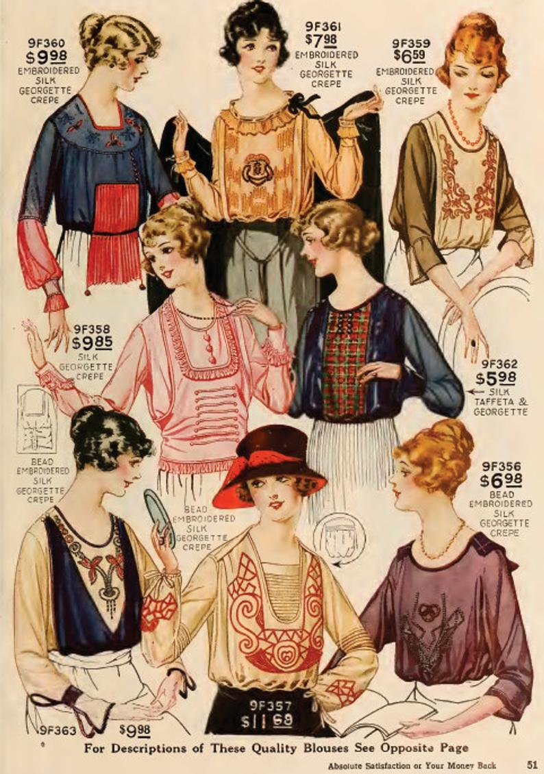Art Deco New York Fashion Styles Magazine 100s Of Printable Designs From The 1920s Instant Download Read On Your Ipad Or Tablet Top Reviews In 2020 Art Deco Clothing Fashion Magazine