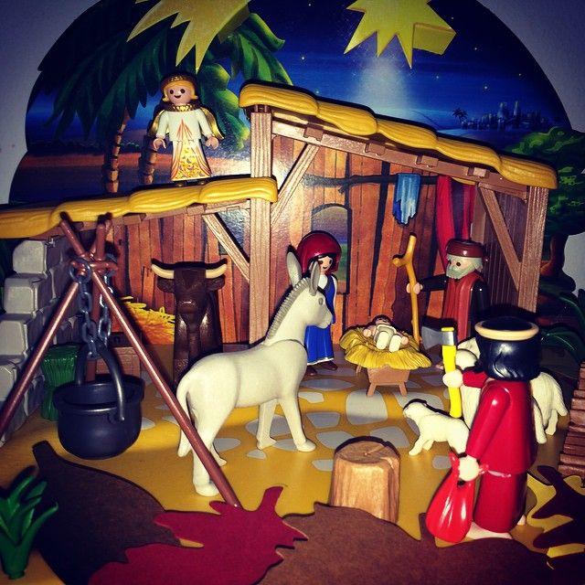Presépio Playmobil! Começamos a decoração de Natal em casa. #playmobil #natal #decor